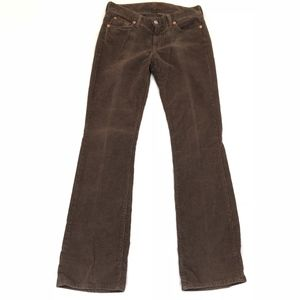 7 for all Mankind Women's Brown Bootcut Corduroy